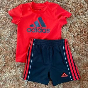 Adidas red infant boys set size 6 months